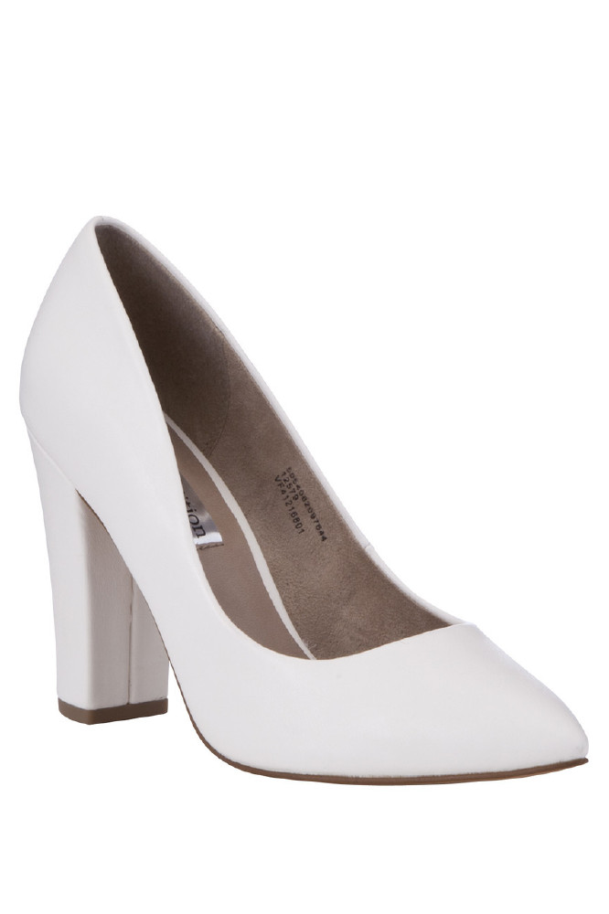 Limited Edition White Block Heels Only £19.50 – Buy Now!