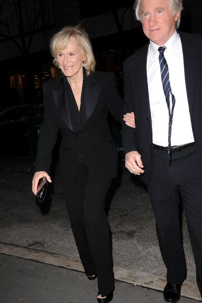 Glenn Close and David Shaw (Credit: Famous)