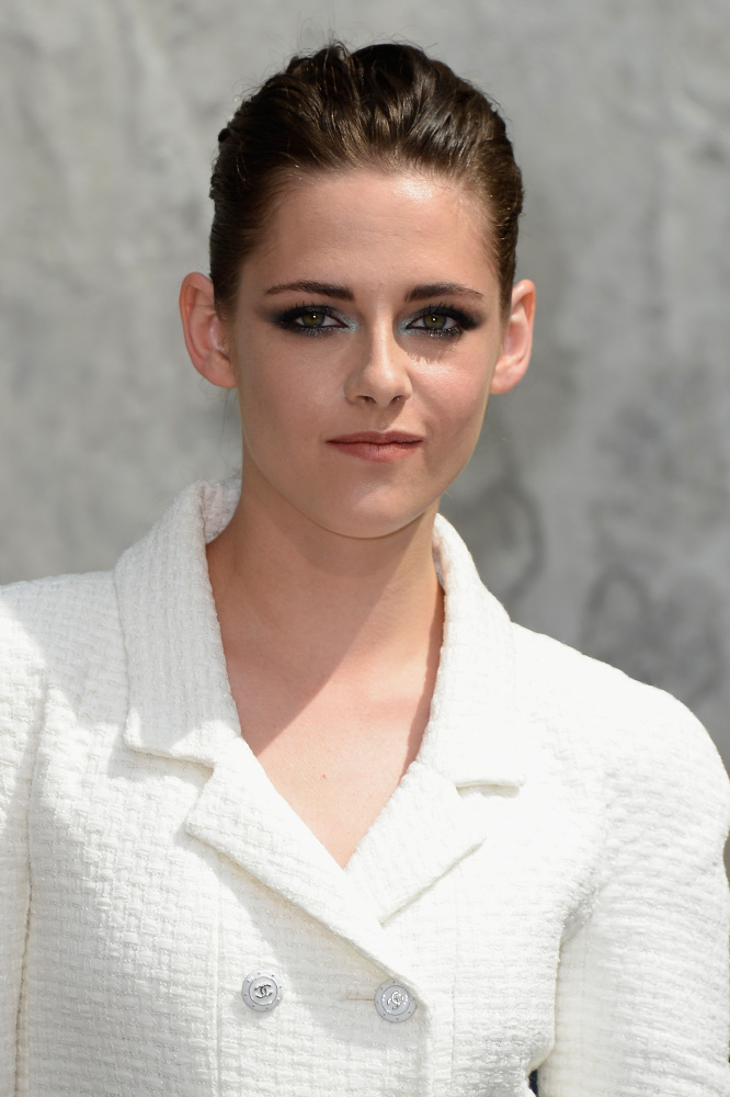Kristen Stewart was sat front row at Chanel