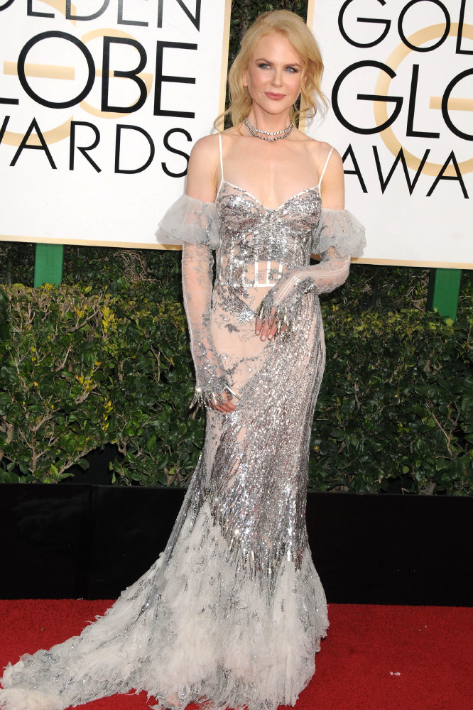 At the Golden Globes last month Nicole also showed her love of sequins