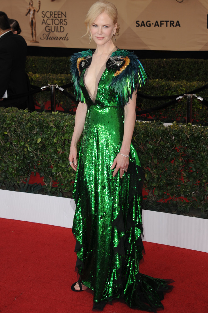 Nicole Kidman's parrot themed Gucci gown has divided opinions