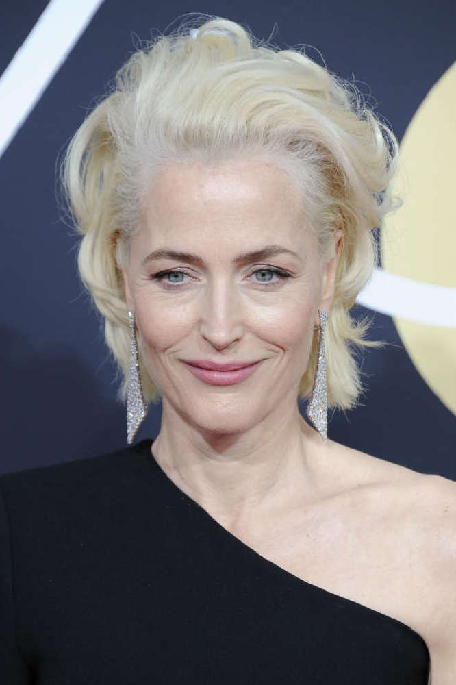 Gillian Anderson at Golden Globes 2018 / Photo Credit: NYPW/Famous
