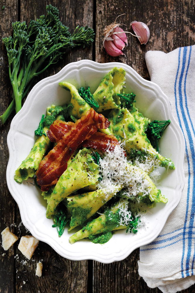 Pasta With Broccoli And Crispy Pancetta