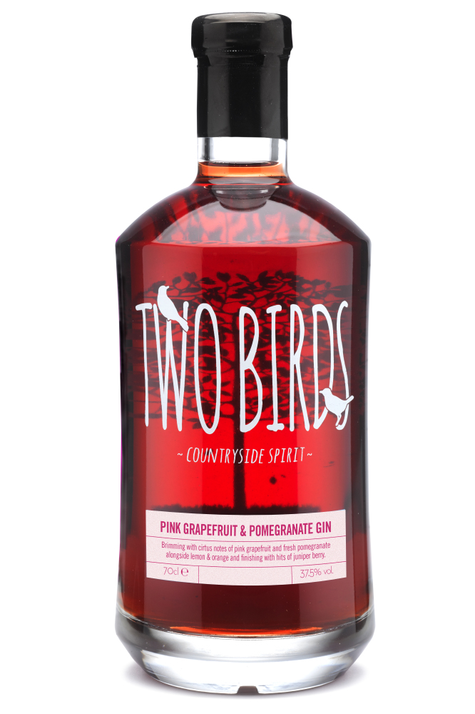 Two Birds Pink Grapefruit and Pomegranate Gin