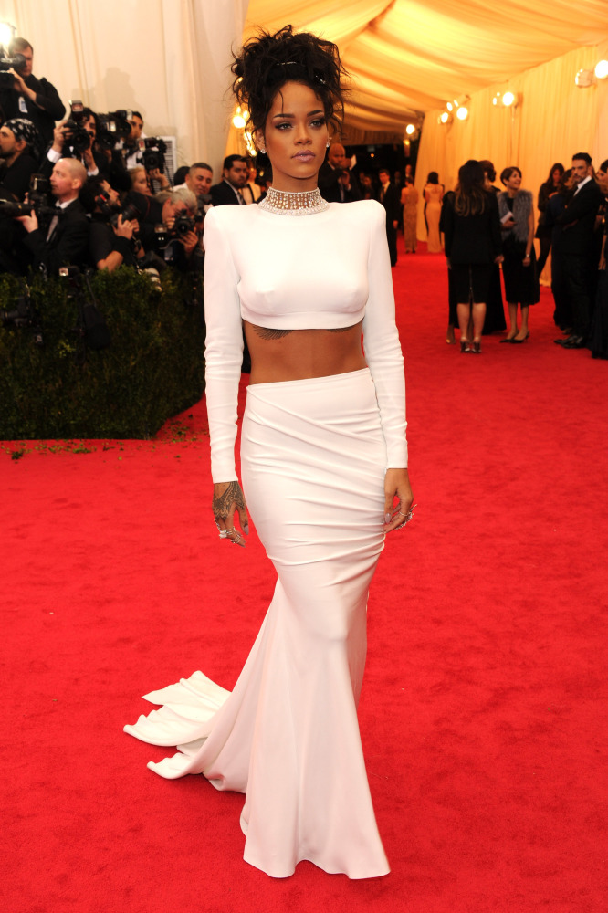 Rihanna shows crop tops can be classy at the Met Gala