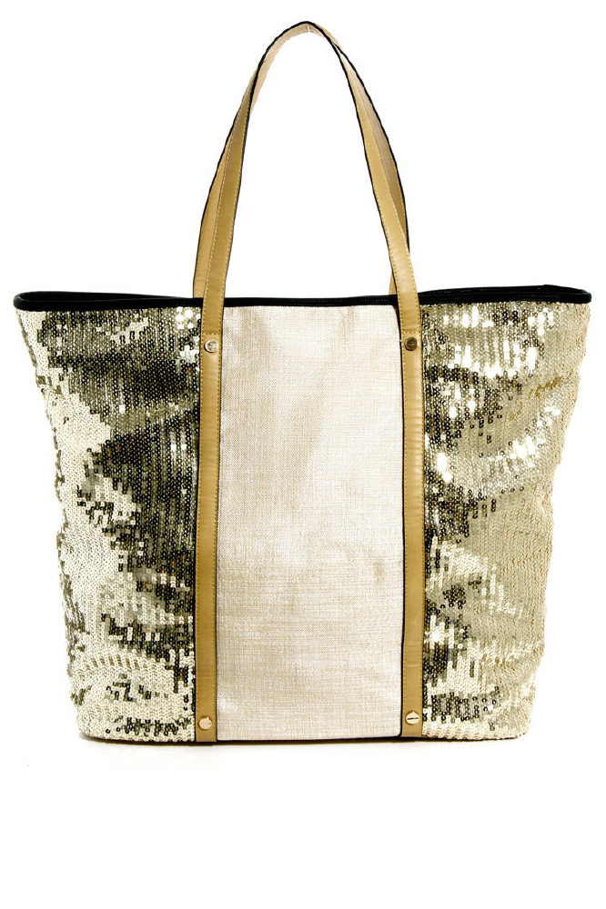 River Island Sequin Panel Beach Tote Bag - A Holiday Essential