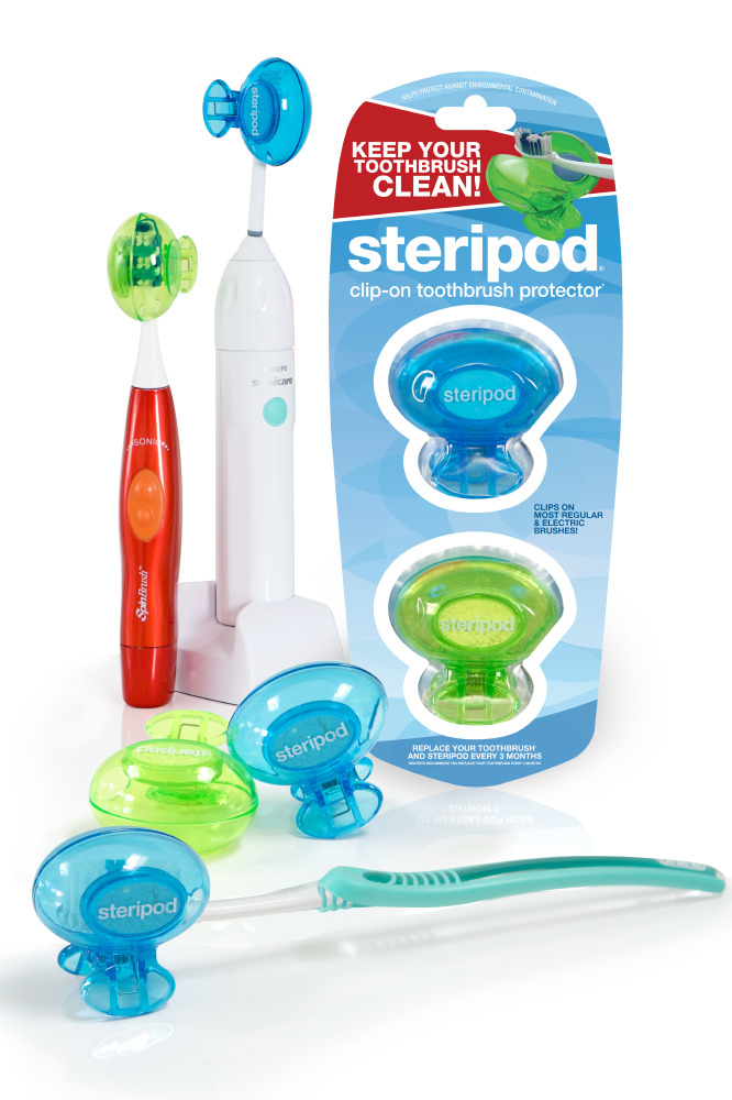 Steripod - Clip-on Toothbrush Protector