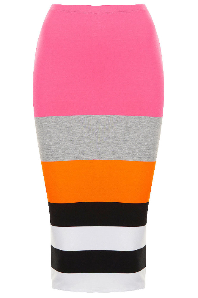 Topshop Colour Block Stripe Tube