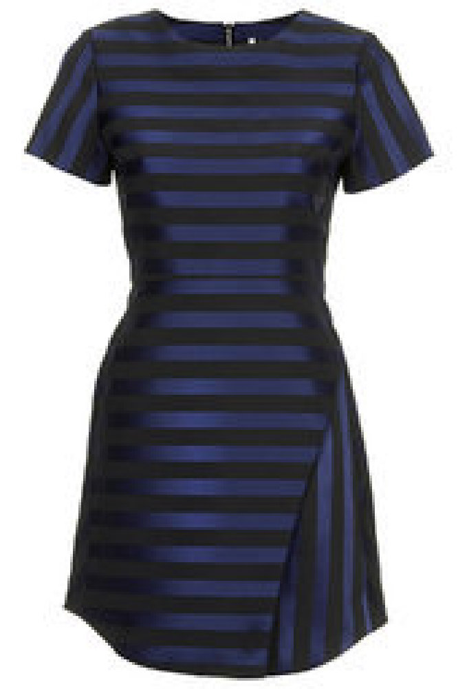 Topshop Matte Stripe Satin Dress