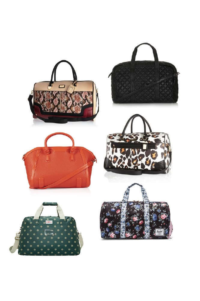Travel bags come in all prints, shapes and materials now