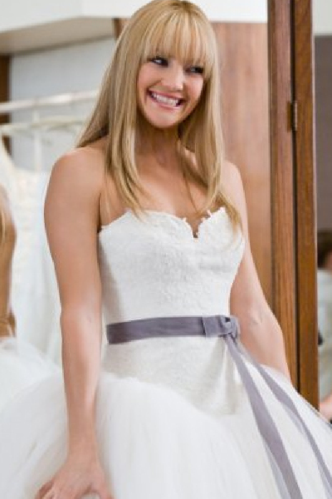 bf49c4a1f80a Film Inspired Wedding Dresses: Kate Hudson in Bride Wars