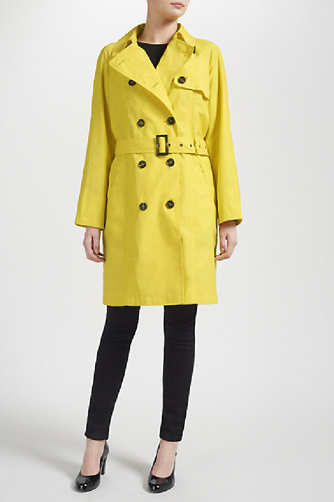Yellow Four Seasons Short Trench Coat