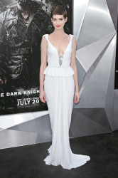 Anne Hathaway in Prabal Gurung  at the American première this week