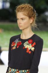 Fresh faced at Erdem
