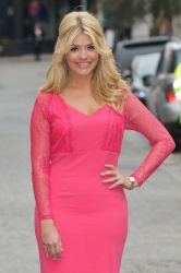 Holly looked beautiful in her pink dress