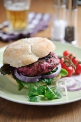 Lamb & Sweetfire Beetroot Burgers with Feta