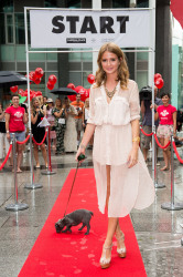 Made in Chelsea's Millie Mackintosh (and puppy Herby), strut their stuff from London Victoria to One New Change next to St Paul's Cathedral as part of