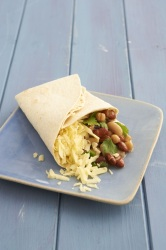 Enjoy a Mexican bean wrap