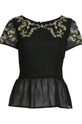 Miss Selfridge Baroque peplum top