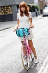 Ride your bike in style with the Giles Deacon bag