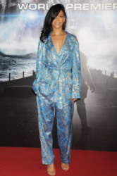 Rihanna works the pyjama trend on the red carpet
