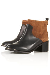 Topshop ALSO Pull On Metal Toe Boots
