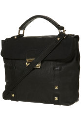 Topshop Pyramid Lock Leather Satchel