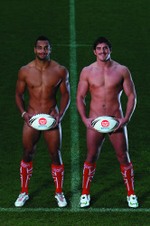 Naked rugby league players