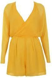 Yellow playsuit from Miss Selfridge