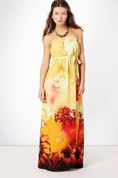 Yellow floral maxi from Debenhams