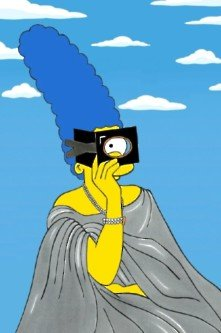 Marge simpson in the iconic fashion dresses - Marge simpson nud ...