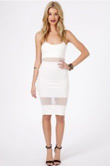 Panel dress black and white gold