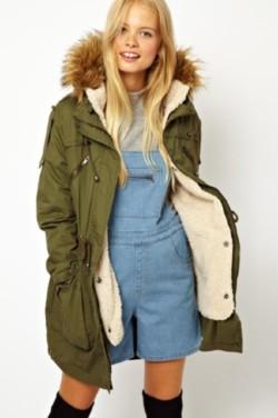 Parka Coats With Fur Hood