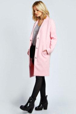 boohoo Lucille Wool Look Longline Boyfriend Coat – We Love!