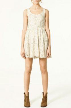 Black  White Lace Dress on Jacket And Boots Or Dressed Up With Bright Orange Shoes And A Skinny