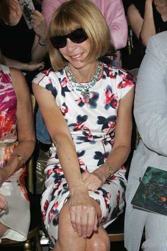 Anna Wintour in the famous sunglasses