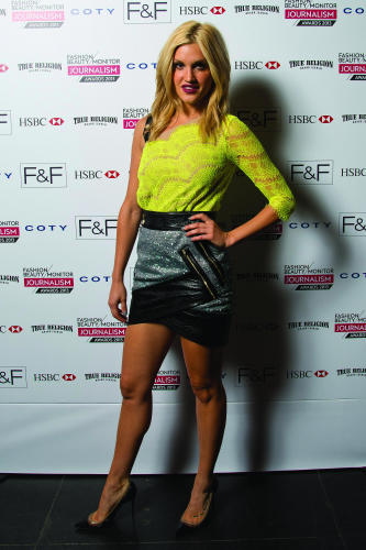 Femalefirst high street fashion awards 2013 best newcomer for Three floor yellow dress