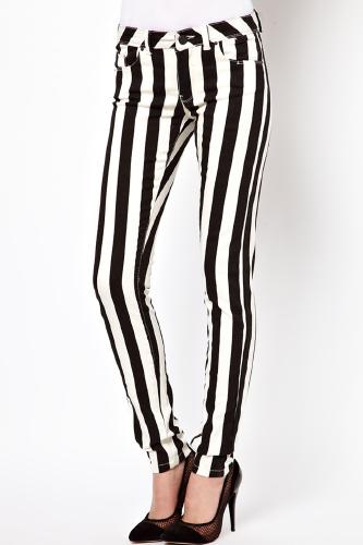 Black And White Stripe Jeans Designer Or Deal