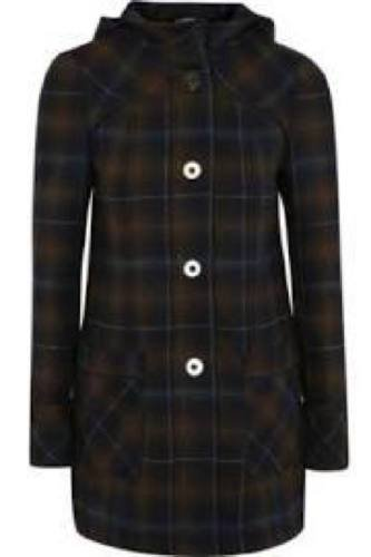 Hooded Check Duffle Coat £30
