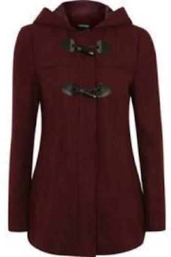 Burgundy Toggle Duffle Coat £20