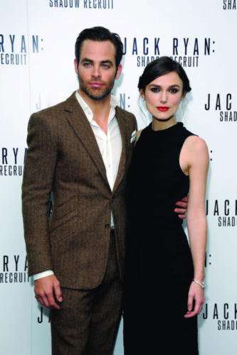 Chris Pine and Keira Knightley looked smart at the premi  232 reChris Pine And Keira Knightley Interview