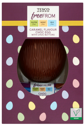 Tesco Free From Caramel Flavour Chocolate Egg