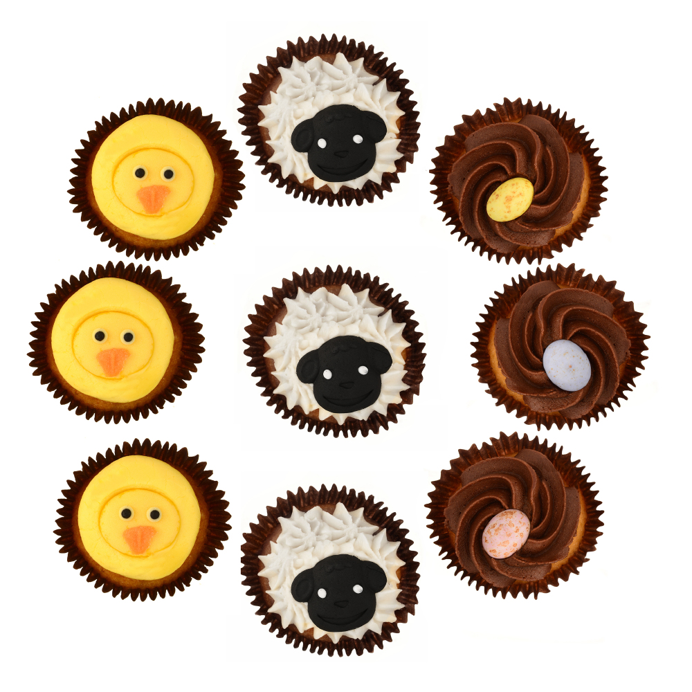 Easter 2016 some of the finest eggs hot cross buns and more on spread the cheer to your spring chickens with asdas easter animal cupcakes these fun farmhouse friends made with soft fluffy sponge and topped with negle Images