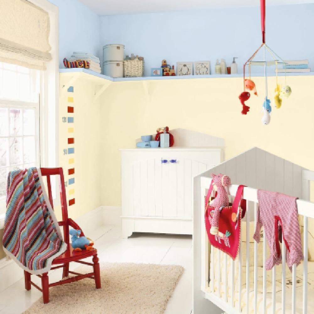 colour ideas for the baby nursery