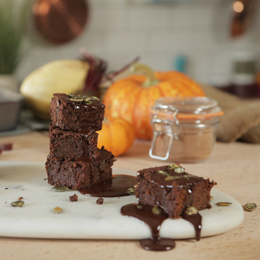 Vegan Pumpkin Brownies