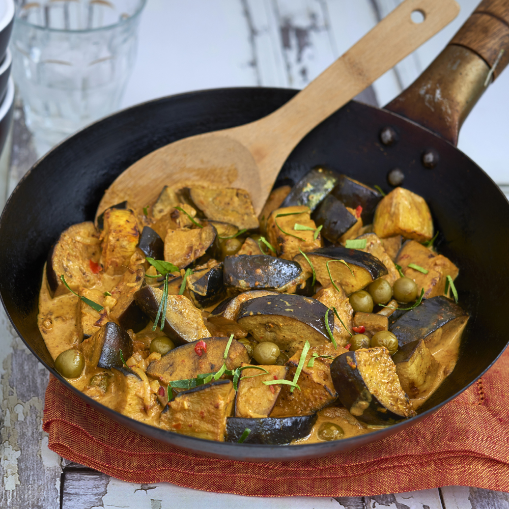 Speedy Aubergine Yellow Curry