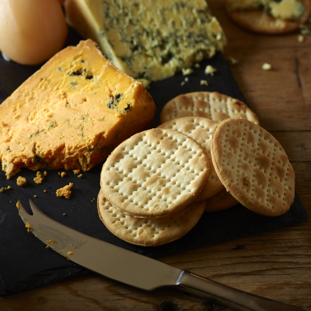 Cornish wafers and blue cheese are a match made in heaven