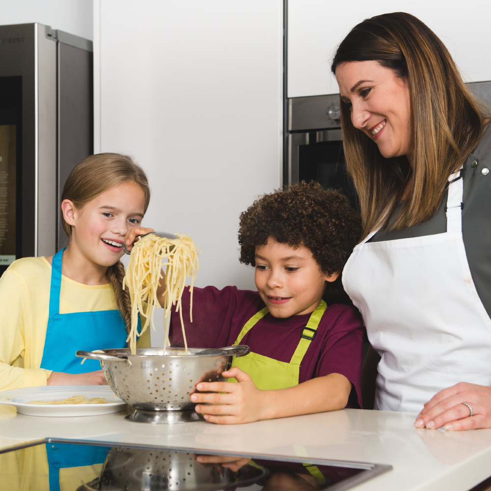 Simple recipes for the top 25 dishes all feature in a free recipe book as part of a Samsung Family Hub Refrigerator initiative to aid and promote cooking with children, which has been specially created with MasterChef finalist Emma Spitzer