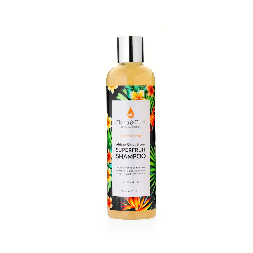 Flora and Curl African Citrus Blossom Superfruit Shampoo- www.floracurl.co.uk