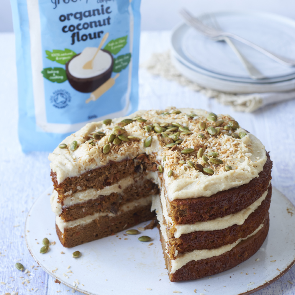 GRAIN-FREE PUMPKIN CAKE WITH CASHEW BUTTER CREAM